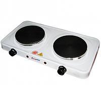 Настольная плита lsu-4079, на 2 конфорки, дисковые нагревательные элементы, термостат, регулировка температуры