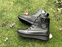 Женские ботиночки Vencer (черные)