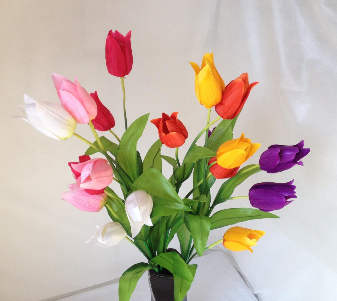 Тюльпаны 3  головки на ветке