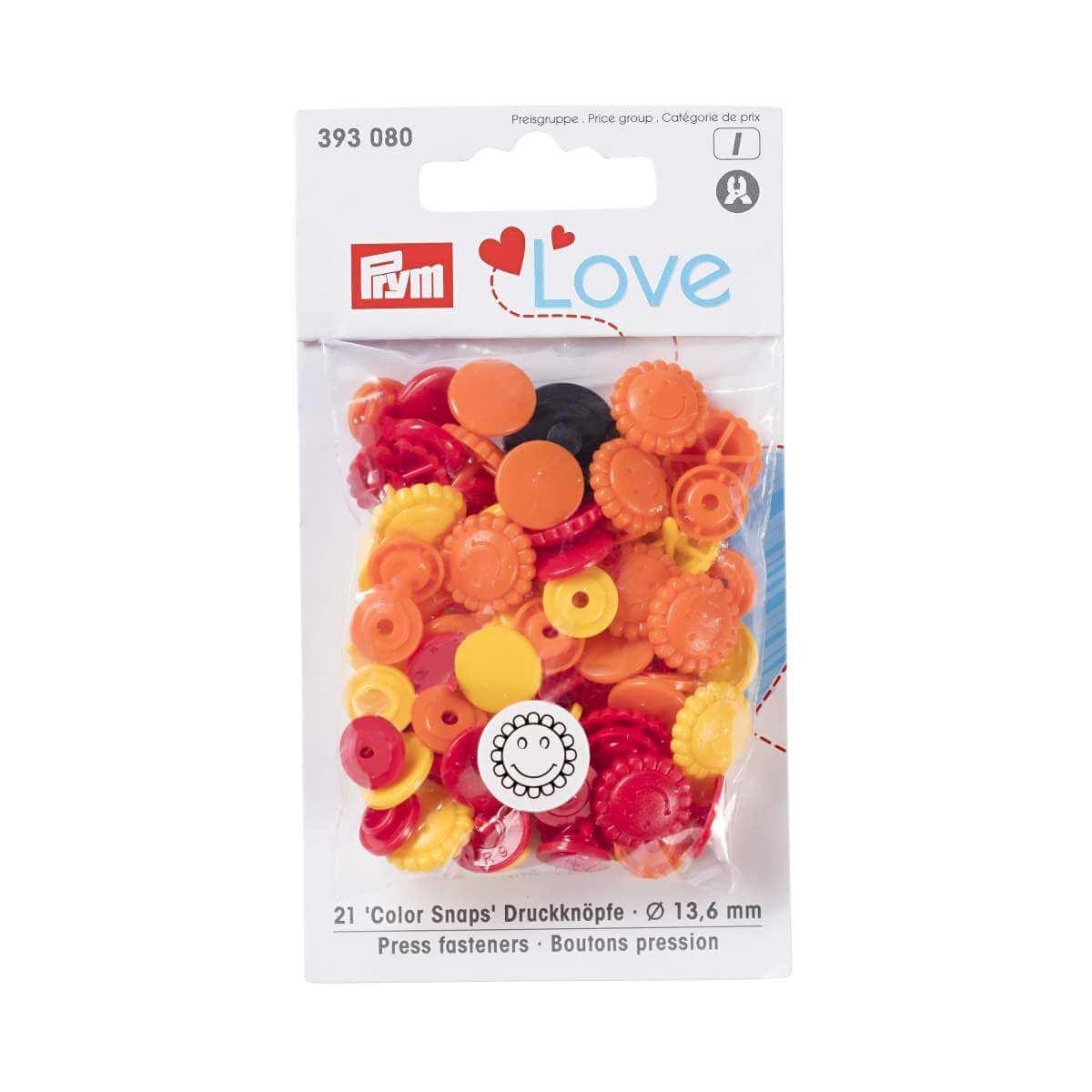 Кнопки Prym 393080 «Color Snaps», 21 шт.