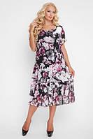 Легкое летнее платье Катаисс розы (54-58), фото 1
