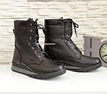 Ботинки мужские на шнуровке из натуральной кожи флотар, от производителя, фото 3
