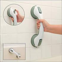Пластиковая ручка поручень  для ванной комнаты на вакуумных присоска, фото 3