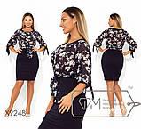 Модное удобное свободное двухцветное платье  размер 48-54 , фото 3