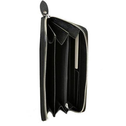 Большой мужской кошелек на молнии Dr.Bond черный Клатч, фото 2