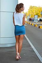 """Летняя джинсовая мини-юбка """"Люкс"""" на молнии (6 цветов), фото 2"""