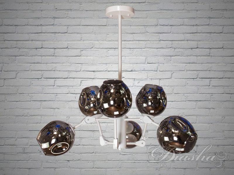 """Люстра в стиле Loft - """"Молекула"""" на 6 ламп 856/6WH"""