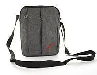 4d508acd03b2 Удобная наплечная мужская сумка с очень прочного материала почтальонка art.  218 (103303) серая