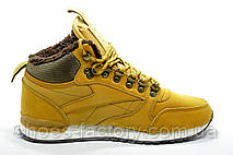 Зимние Кроссовки в стиле Reebok Classic Leather, Yellow\Желтый, фото 2