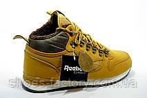 Зимние Кроссовки в стиле Reebok Classic Leather, Yellow\Желтый, фото 3
