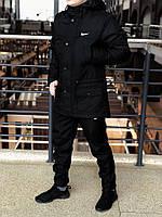 Курточка Парка Nike Cupe, мужская осеняя/весеняя, цвет черный, фото 1