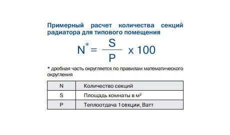 Формули розрахунку потужності опалення