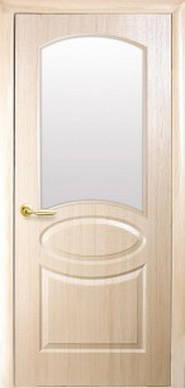Дверь Овал стекло сатин