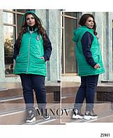 b652b46b Женский теплый спортивный зимний костюм тройка больших размеров.Штаны +  кофта + жилет р-