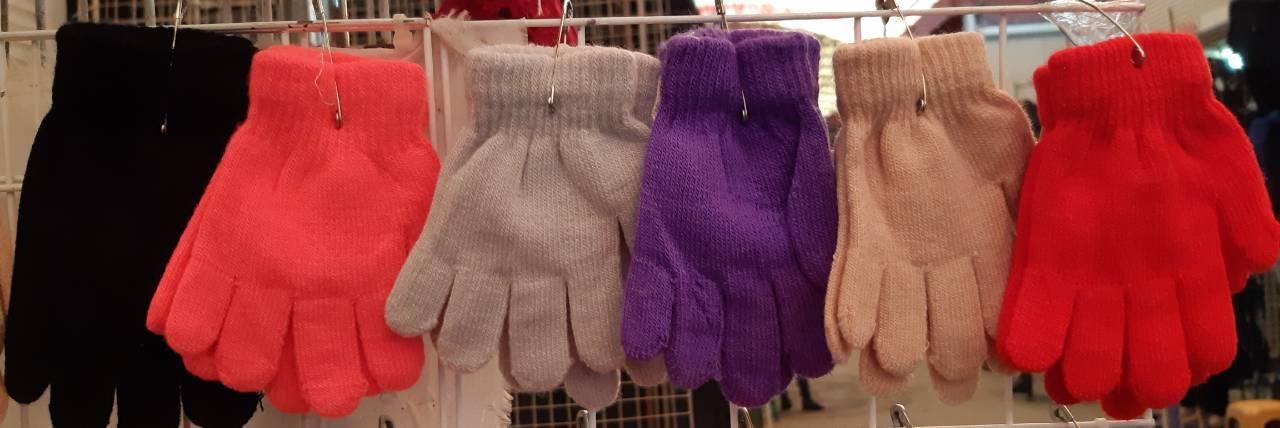 Детские перчатки одинарные для девочки осень от 2 до 4 лет