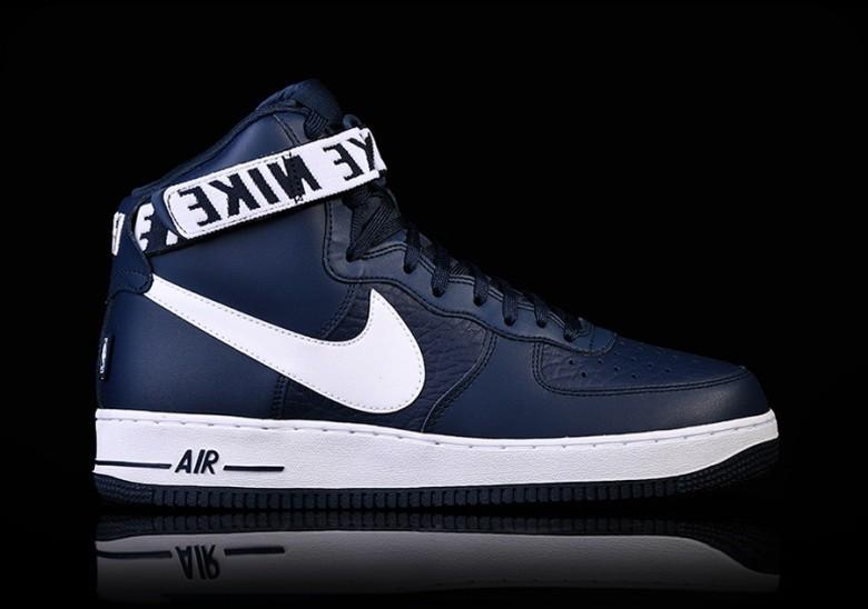 Оригинальные мужские кроссовки NIKE AIR FORCE 1 HIGH  07 NBA COLLEGE NAVY b9e0b14d956f3
