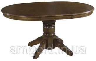 Стол обеденный Ривьера раздвижной 106-152 см темный орех