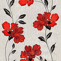 Обои бумажные Эксклюзив 058-09 серо-красный, фото 1