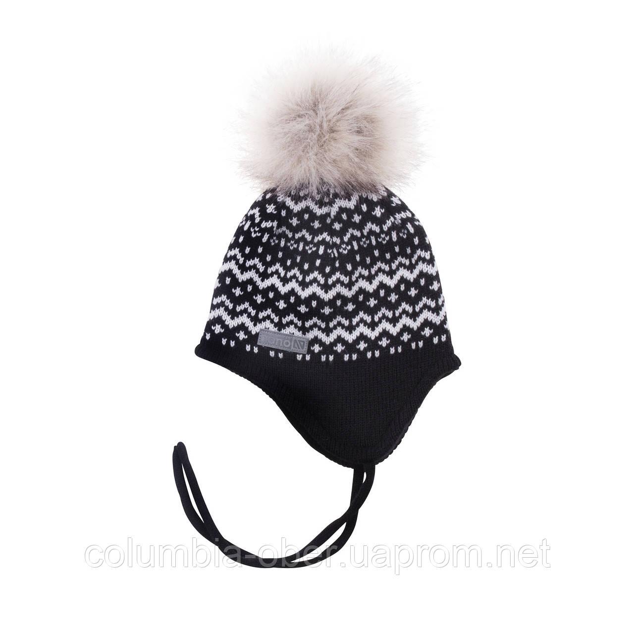Зимняя детская шапка для девочки Nano F18 TU 252 Black. Размеры 2/4 и 5/6X.