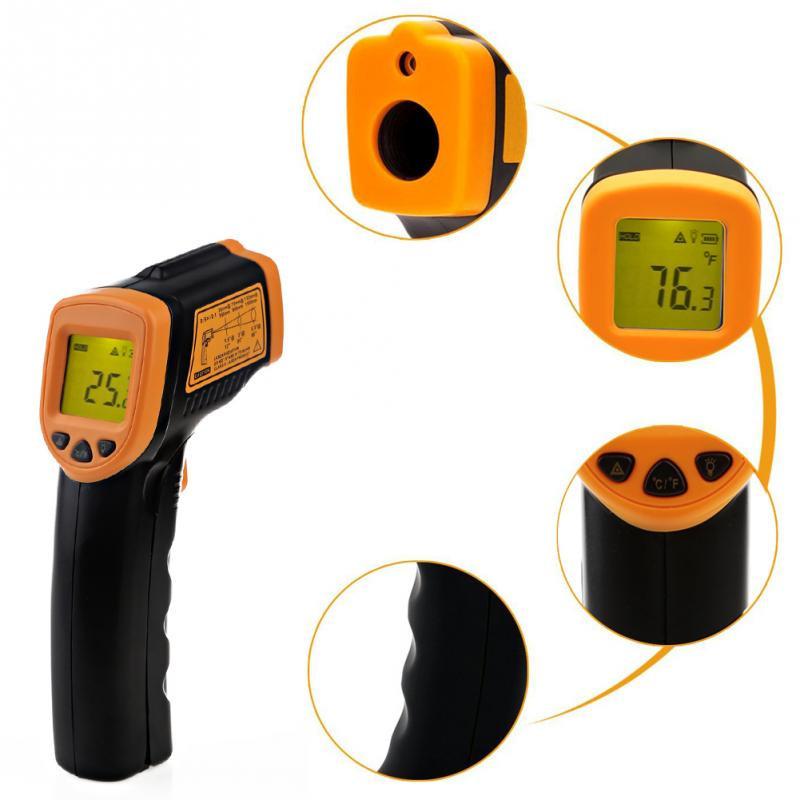 Градусник TEMPERATURE AR 320, инфракрасный термометр, бесконтактный  термометр
