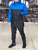 Курточка Парка Nike Cupe, мужская осеняя/весеняя, цвет сине-черный, фото 1
