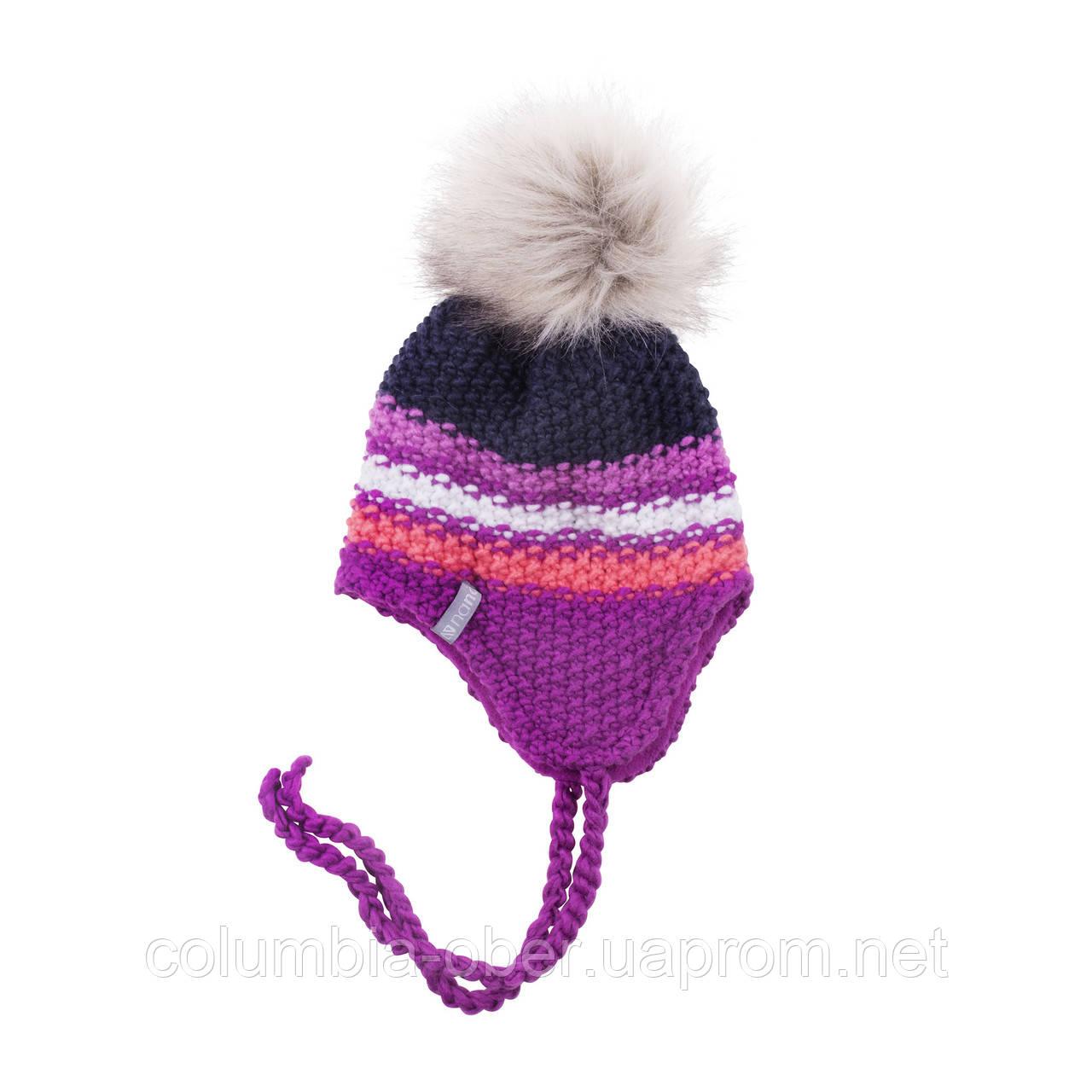 Зимняя детская шапка для девочки Nano F18 TU 254 Dust Steel. Размеры 2/4 и 5/6X.