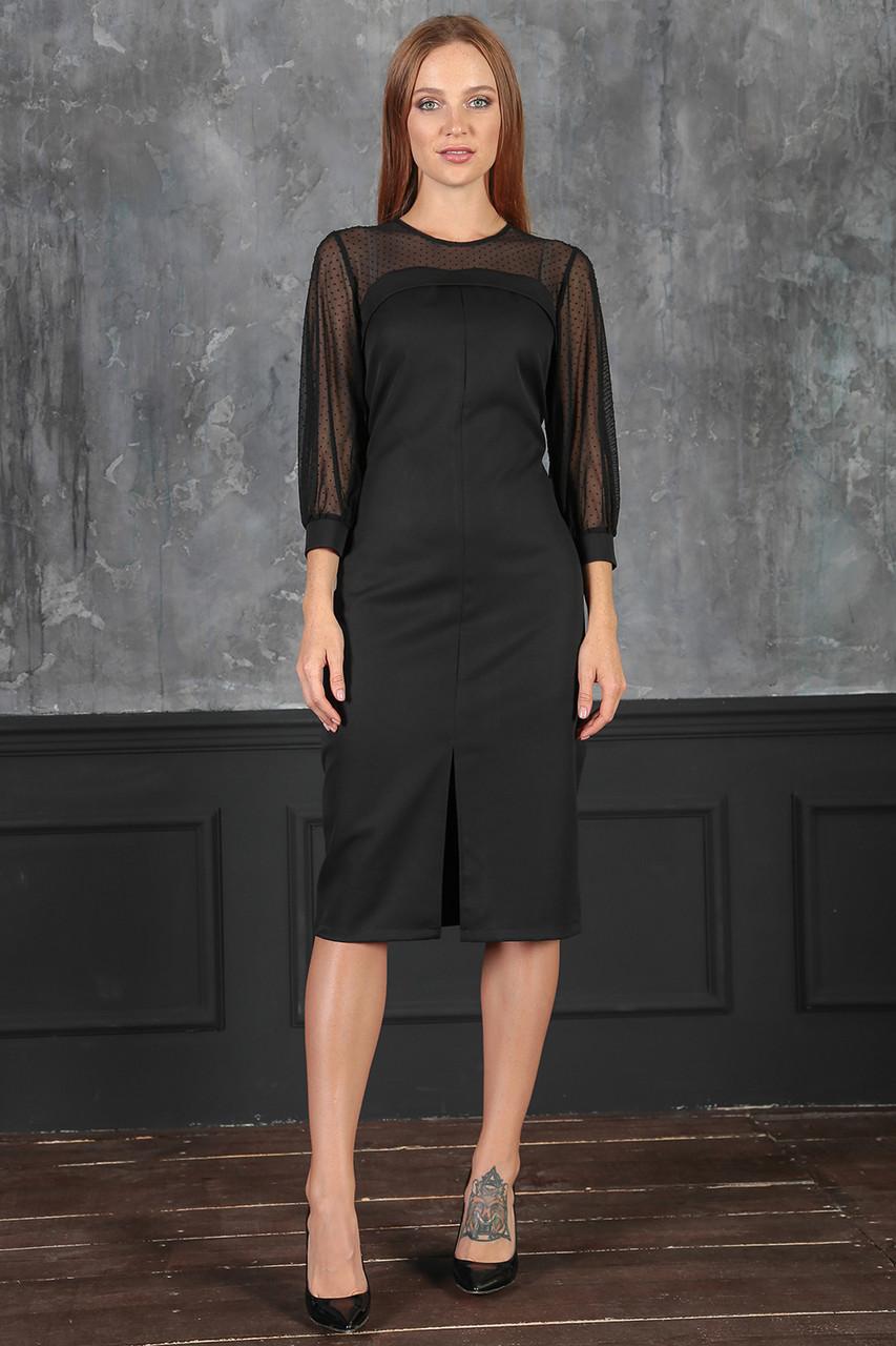 Платье деловой стиль черное