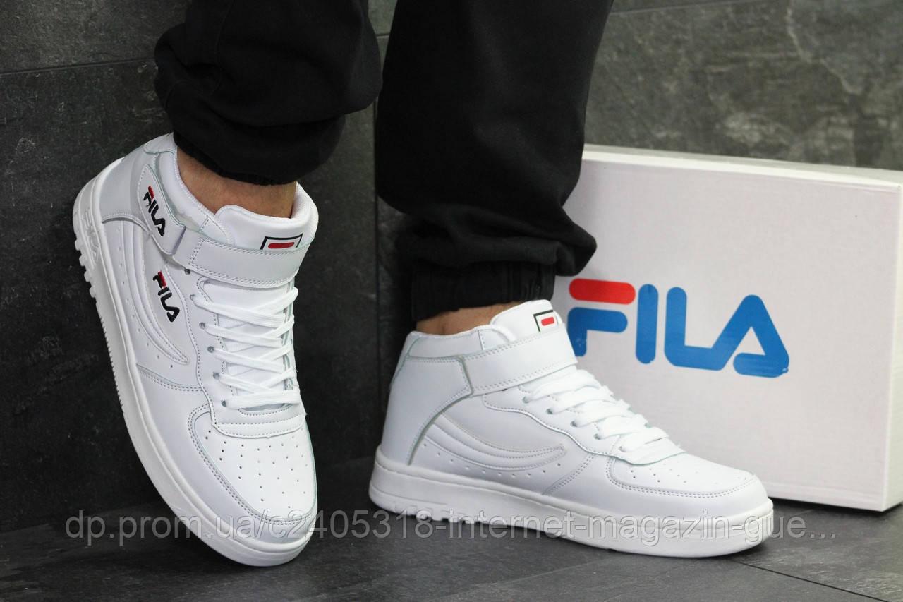 5f254eef Высокие осенние мужские кроссовки Fila (реплика), белые: продажа ...