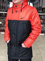 Курточка Парка Nike Cupe, мужская осеняя/весеняя, цвет черно-алый, фото 1