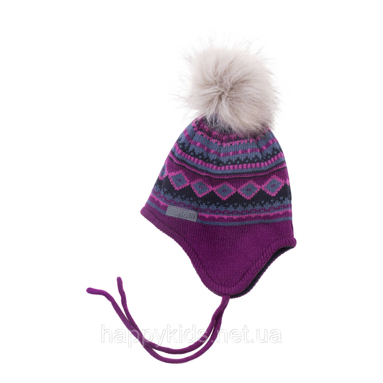 Зимняя детская шапка для девочки Nano F18 TU 262 Eggplant. Размеры 2/4 и 5/6X.