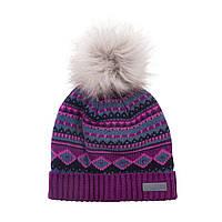 Зимняя детская шапка для девочки Nano F18 TU 262 Eggplant. Размер 7/12.