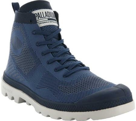 Женские ботинки Palladium Pampa Hi Lite Ankle Boot Blue Shadow Moon Beam  Knitted Textile ( 0265d9a3be593