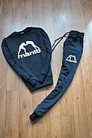 Спортивный костюм мужской Manto Манто черный (реплика)