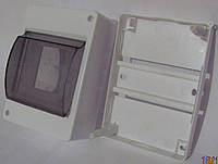 Щиток под автоматы с крышкой | 3-4 АВ  наруж