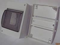 Щиток под автоматы с крышкой   3-4 АВ наруж