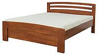 Ліжко двоспальне в спальню з дерева 1600 Рондо Мебель Сервіс