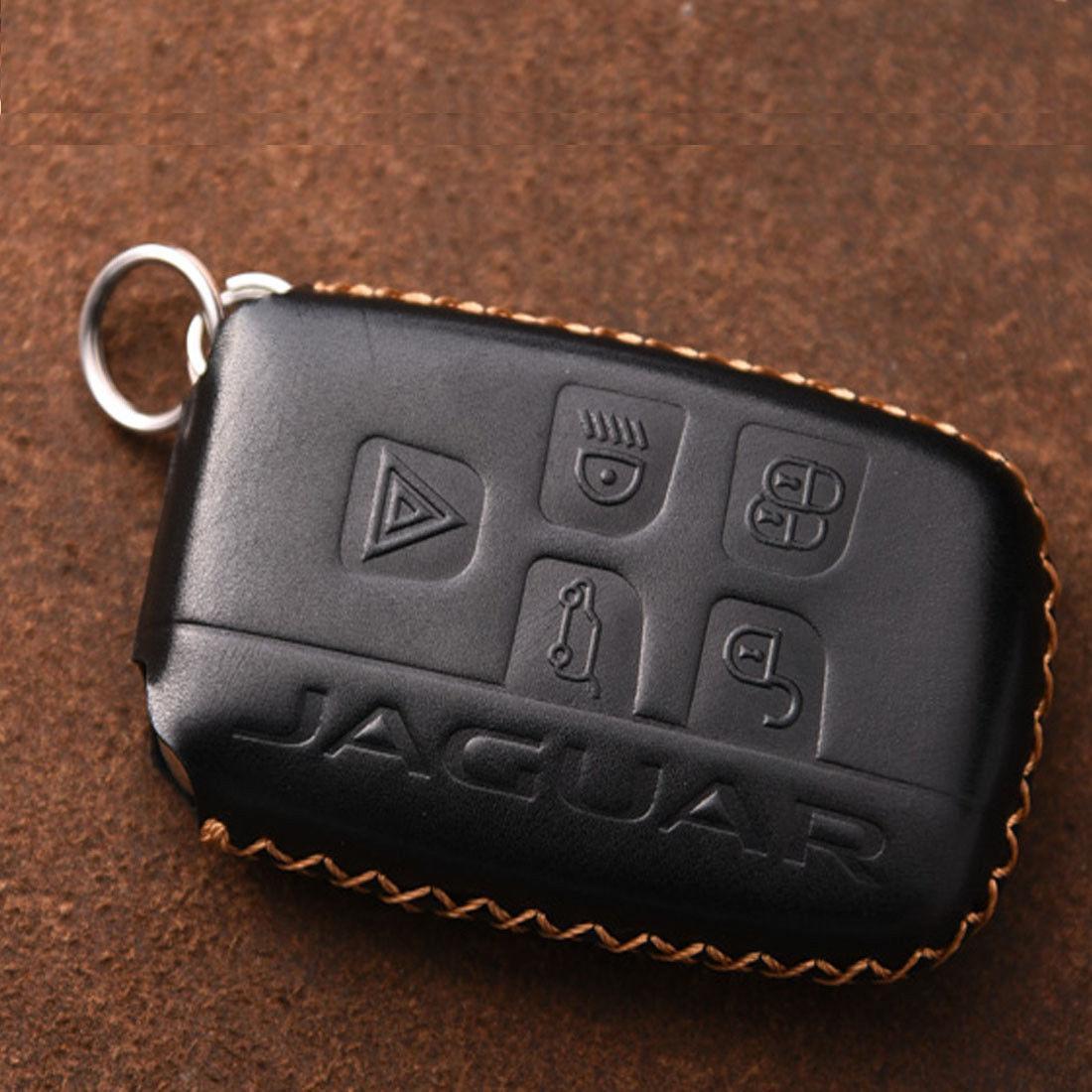 Кожаный чехол для ключа Jaguar E-Pace,F-Pace,F-Type,I-Pace,XE, XF,XFR,XFR-S,XJ,XK,XKR,XKR-S,X-TYPE