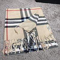 fdb605922620 Шарф Burberry Lightweight Stone Check Wool and Silk Scarf барбери теплый  реплика