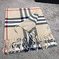 Шарф Burberry Lightweight Stone Check Wool and Silk Scarf барбери теплый  реплика dd47e098218