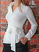 Белая Рубашка на запах, фото 2