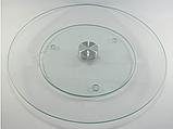 Подставка вращающаяся для торта/закусок стеклянная Ф=32см(с рисунком), Ф=35см(без рисунка), фото 2