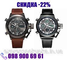 Мужские армейские ударопрочные часы AMST 3003 Черные и Коричневые