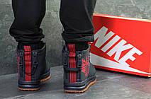 Высокие мужские кроссовки Nike Air Force,темно синие,на меху., фото 2