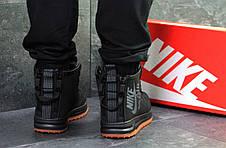 Высокие мужские кроссовки Nike Air Force,черные,на меху., фото 2