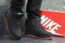 Высокие мужские кроссовки Nike Air Force,черные,на меху., фото 3