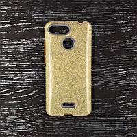 Чехол накладка для Xiaomi redmi 6 силиконовый, Remax Case GLITTER, золотистый