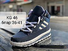 Женские дутики сапоги кроссовки. K&G 46 синий, фото 2
