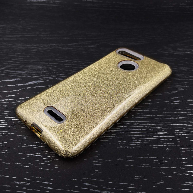 чехол накладка Xiaomi Redmi 6 glitter золотистый