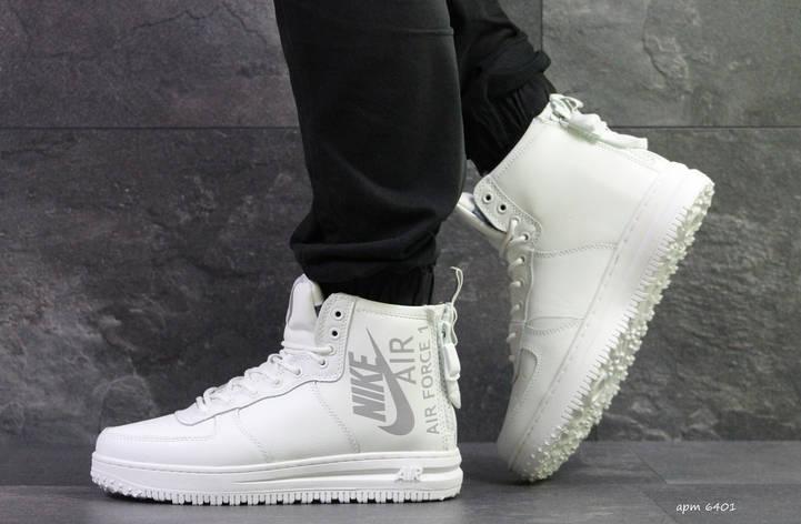 Высокие мужские кроссовки Nike Air Force,белые,на меху. 41  продажа ... 92273093739