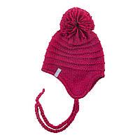 Зимняя детская шапка для девочки Nano F18 TU 278 Raspberry. Размеры 12/24 мес, 2/4 и 5/6X.